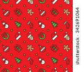 new year and christmas pattern...   Shutterstock .eps vector #342691064