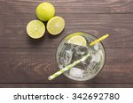 fresh cocktail with soda  lime... | Shutterstock . vector #342692780