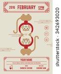 8 february 2016  chinese... | Shutterstock .eps vector #342693020