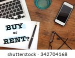 buy or rent choice concept ... | Shutterstock . vector #342704168