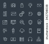 programming and developer icons.... | Shutterstock .eps vector #342708038