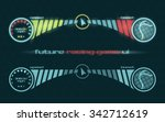 vector futuristic interface of...