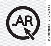 argentina domain dot ar sign... | Shutterstock .eps vector #342717566