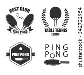 ping pong logotype. ping pong... | Shutterstock .eps vector #342722954