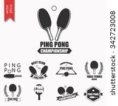 ping pong logotype. ping pong... | Shutterstock .eps vector #342723008
