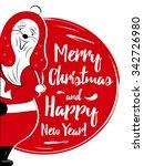 merry christmas vector... | Shutterstock .eps vector #342726980