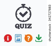 quiz timer sign icon. questions ... | Shutterstock .eps vector #342727883