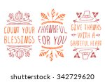 thanksgiving elements. hand... | Shutterstock .eps vector #342729620