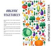 vegetables background in flat... | Shutterstock . vector #342730364