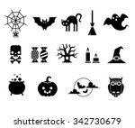set of black color vector... | Shutterstock .eps vector #342730679