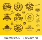 set of vintage retro coffee... | Shutterstock .eps vector #342732473