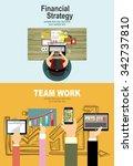 set of flat design illustration ... | Shutterstock .eps vector #342737810