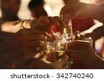 cheers    summer christmas  | Shutterstock . vector #342740240