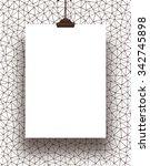 single hanged vertical paper... | Shutterstock . vector #342745898