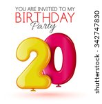 invitation to the 20 th... | Shutterstock .eps vector #342747830