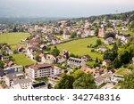 vaduz  liechtenstein aerial view | Shutterstock . vector #342748316