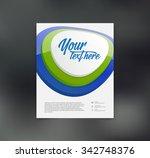 vector flyer design template   Shutterstock .eps vector #342748376