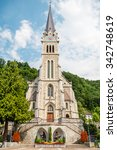 cathedral of st. florin in... | Shutterstock . vector #342748619