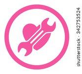 heart surgery vector icon.... | Shutterstock .eps vector #342753524