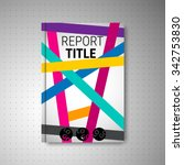 brochure design cover with... | Shutterstock .eps vector #342753830