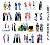 colleagues friends classmates... | Shutterstock .eps vector #342753854