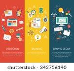 designer vertical banner set... | Shutterstock .eps vector #342756140