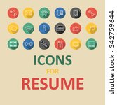 trendy flat icons for your...   Shutterstock .eps vector #342759644