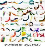 mega collection of wave... | Shutterstock .eps vector #342759650