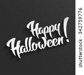 happy halloween   3d white hand ... | Shutterstock . vector #342759776