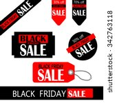 black friday sale tag design in ... | Shutterstock .eps vector #342763118