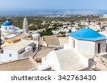 panoramic view of the caldera ... | Shutterstock . vector #342763430