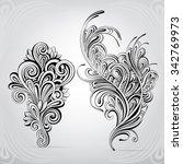floral ornament | Shutterstock .eps vector #342769973