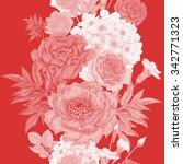 seamless pattern. illustration... | Shutterstock .eps vector #342771323
