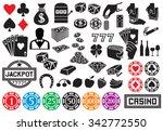 casino or gambling icons    Shutterstock .eps vector #342772550
