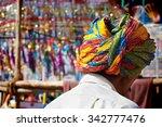 man wearing a turban in a...