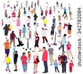 set of people. children  adults ...   Shutterstock . vector #342782084