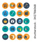 business and finance icons in... | Shutterstock .eps vector #342786068
