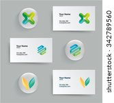 corporate mockup trendy style... | Shutterstock .eps vector #342789560