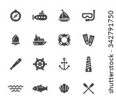 marine and nautical icons | Shutterstock .eps vector #342791750