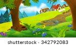 cartoon background of old... | Shutterstock . vector #342792083