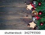christmas baking concept   ... | Shutterstock . vector #342795500