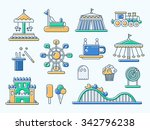 set of vector flat design... | Shutterstock .eps vector #342796238