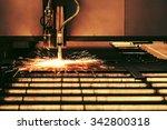 industrial cnc plasma cutting... | Shutterstock . vector #342800318