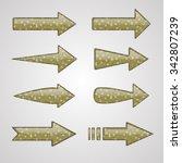 vector silver arrows with... | Shutterstock .eps vector #342807239