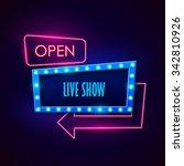 retro neon sign. vector... | Shutterstock .eps vector #342810926
