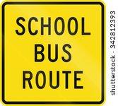 new zealand road sign   school... | Shutterstock . vector #342812393