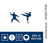 martial art silhouette vector... | Shutterstock .eps vector #342817946