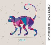 happy new year 2016 creative... | Shutterstock . vector #342818360