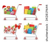 set of christmas sale colorful... | Shutterstock .eps vector #342819644