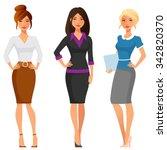 attractive young women in... | Shutterstock .eps vector #342820370